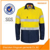 Hot Selling Long Sleeve Salut Vis Reflector Workwear Chemise de travail