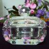 De Doos van het Juweel van het kristal voor de Juwelen van Ornamenten, de Doos van de Juwelen van het Glas