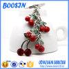 Fruit Keychain van de Kers van het Email van de Douane van de fabriek het Rode voor Levering voor doorverkoop