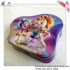 Симпатичной коробка Tiinplate печениь формы цветастой напечатанная лошадью