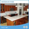 Bancada branca da cozinha de quartzo de Cararra para o repouso