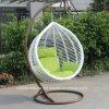 現代テラスの家具の藤の余暇の屋外の柳細工の振動椅子(CF1433H)
