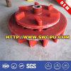 Rueda de gusano biselada plástica industrial de la pieza del motor (SWCPU-P-W652)