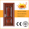 Porta do metal da segurança da transferência térmica, aço inoxidável de punho de porta (SC-S117)