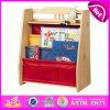 2015 Bookshel de colores para niños de madera, moda muebles para la sala de estantería de madera, portátiles niños de madera del estante de libro W08d044