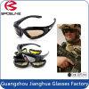 3 lunettes antipoussière neuves de militaires de sûreté de lunettes de soleil de moto de lentille d'Interchangleable