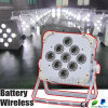 専門家LED 9PCS*10W 6in1 Wireless Battery Light