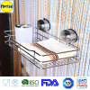 Stanza da bagno Shower Wire Basket Caddy Organizer Shelf Rack con Suction Cup