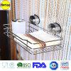 Support d'étagère d'organisateur de chariot de casier métallique de douche de salle de bains avec la tasse d'aspiration