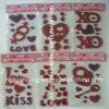 Schitter de Sticker van het Gel van het Venster voor de Decoratie van de Valentijnskaart