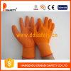 Запястье руки Knit, 13 перчатки датчика померанцовых Nylon покрывая PU (131)