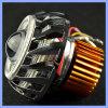 10W DC12-80V 3500lm Dual farol redondo do projetor da motocicleta dos olhos do anjo