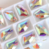 23*23mm Special Shape Crystal Ab Color High Quality Fancy Glass Sew on Rhinestone for Dress