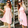 Venta al por mayor ocasional barata del vestido de partido de la playa del verano de las mujeres del nuevo estilo