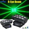 RGBW LED 8PCS beweglicher Kopf 4 in 1 Armkreuz-Licht