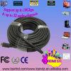 Кабель 1.4V 2k*4k высокоскоростного черного цвета длинний HDMI до 20m /66ft для рассрочки в-Стены, поддержки 3D Cl2 занявшей в рейтинге & локальных сетей