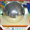 Globos publicitarios inflables de la bola grande a todo color de plata de Mirrorr