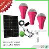 Kit alimentato solare domestico di illuminazione del prodotto 2017 solari 12V LED per l'Africa