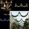 Luz de rua transversal com a decoração da luz do motivo da rua do Natal da luz do motivo de Bell do ouro para a parede do edifício