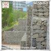 Galvanisierter Gabion Wand-Aufbau/Gabion Korb-Stützmauer