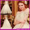 2015 венчаний самого нового образца способа реального без бретелек кристаллический Bridal/платье венчания Organza (D083)