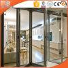 Дверь европейского пролома конструкции термально алюминиевая Bi-Складывая, сползая алюминиевую дверь балкона, дверь польностью Tempered стекла двойной застеклять