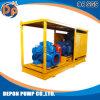 Alta bomba de agua del flujo con el generador y la cabina de control