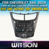 Reprodutor de DVD do carro de Witson para a vela 2015 de Chevrolet com sustentação do Internet DVR da ROM WiFi 3G do chipset 1080P 8g