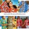 Camice hawaiane del Mens del manicotto di Short della camicia hawaiana