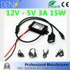 Conversor abaixador 12V da alimentação de DC da C.C. à fonte de alimentação do diodo emissor de luz do regulador 15W do fanfarrão de 5V 3A