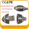 Vara da memória do futebol da movimentação do flash do USB do rugby do metal para a promoção
