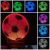 a lâmpada de mesa leve da noite do diodo emissor de luz do toque do USB da mudança da cor da ilusão 7 do futebol do futebol 3D comemora o presente