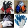 Отрезок нитрила покрытый и химически упорные резиновый перчатки