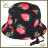 子供のためのカスタムいちごの印刷ストリングバケツの帽子