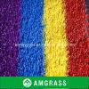 De tuin siert het Woon Kunstmatige Gras van Tegels