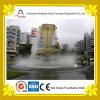 Fontana di acqua rotonda dello stagno con la scultura di figura della torcia