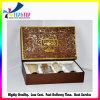 Leerer kundenspezifischer kosmetischer Großhandelspapierbehälter des glänzendes Gold2016