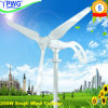 Nuovo Design 200W Wind Turbine Generator Include Wind Rotor+Pm Generator+Flange+Controller+Solar Panel+LED Street Lamp