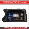 GPS를 가진 Ssangyong Korando, Bluetooth를 위한 특별한 Car DVD Player. (CY-8062)
