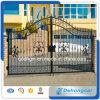 Puerta de seguridad del hierro labrado del precio bajo con galvanizado/el polvo cubiertos