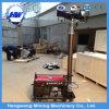 Tipo generador diesel del acoplado de la torre ligera 8kw con la torre ligera de la construcción de 4 luces