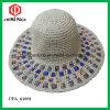 El borde ancho del tejido Hojas de sombreros de paja (CPA_90048)