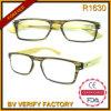 R1630 Diseño Personalizado Nuevo 2015 Nueva Ultra Thin Bamboo templos gafas de lectura