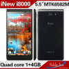 5.5 인치 쿼드 Core Android Cellular/Smart Phone/Mobile Phone/Cell Phone (iNew I8000)