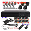 sistema de vigilância Dh3208KCB do sistema de vigilância 8CH H. 264 Camera Kit DVR Security de 8CH H. 264 Camera Kit DVR Security
