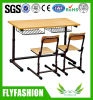 Jogos da tabela e da cadeira do dobro da mobília de escola para a venda (SF01D)