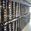 Suelo a techo montado en la pared de gran escala de hierro de vino