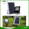le panneau solaire 6V 6W de lumière d'inondation de détecteur de mouvement de 120LED PIR imperméabilisent le projecteur avec la batterie 6000mAh