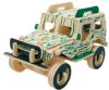 El coche hecho a mano hermoso de madera modela rompecabezas