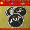 Etiqueta engomada redonda auta-adhesivo del vinilo de la marca de fábrica de encargo de la promoción Stone-015